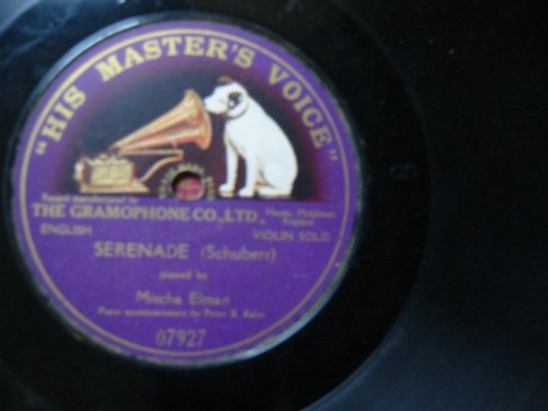 Mischa Elman - Schubert Serenade - HMV Onesided