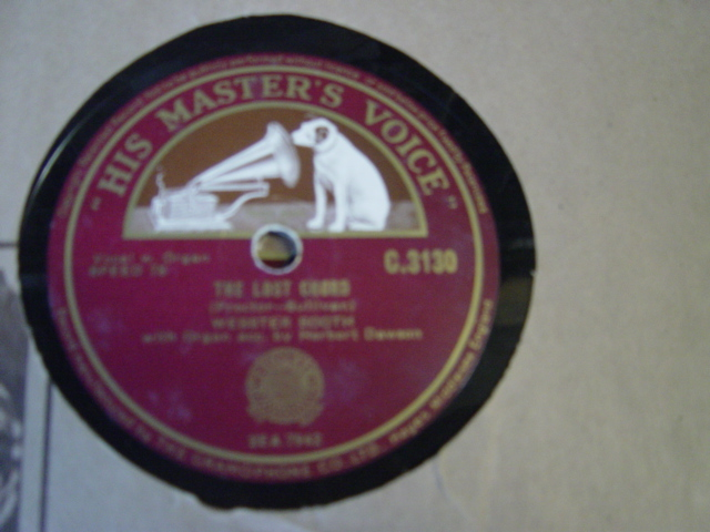 Webster Booth - The Lost Chord / Largo - HMV C.3130