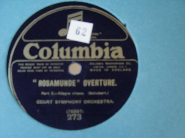 Court Symphony Orchestra - Schubert - Rosamunde - Columbia 273
