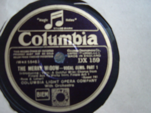 Columbia Light Opera Company - Merry Widow - Columbia DX.159