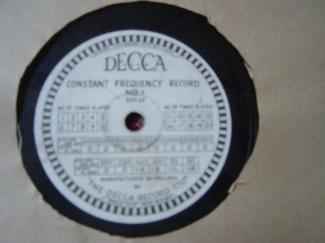 Decca Constant Frequency Record No. 1 - EXP.55