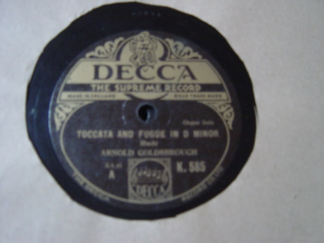 Arnold Goldsbrough Organ - Bach Toccata & Fugue - Decca K.585