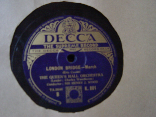 Queen's Hall Orchestra - Henry Woods - London Suite - Decca 2x78