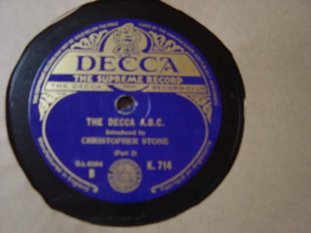 Christopher Stone - The Decca A.B.C. - Decca K.714