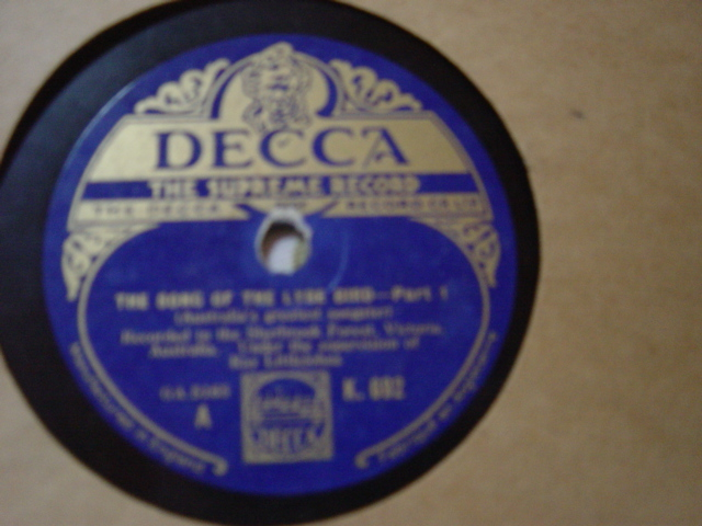 The Song of the Lyre Bird - Ray Littlejohns - Decca K.692