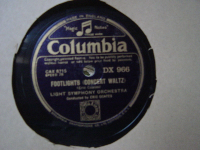 Light Symphony Orchestra Coates - Last Love - Columbia DX.966
