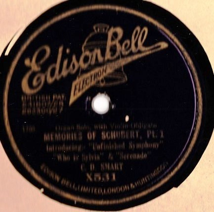 C.D. Smart Organ - Schubert Memories - Edison Bell X.531