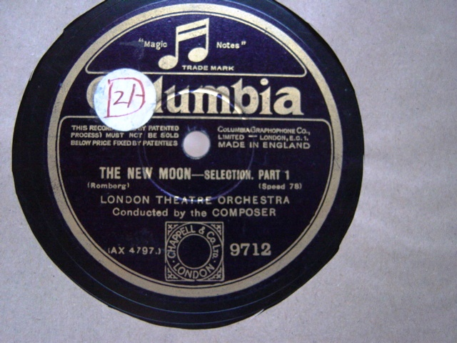 London Theatre Orchestra - The New Moon - Columbia 9712