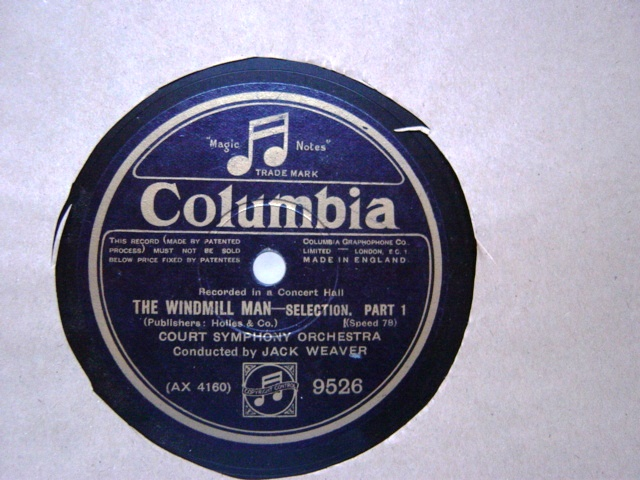 Court Symphony Orchestra - The Windmill Man - Columbia 9526
