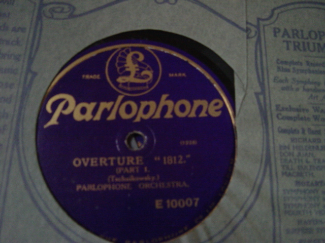 Parlophone Orchestra - Tschaikowsky 1812 - Parlophone E.10007