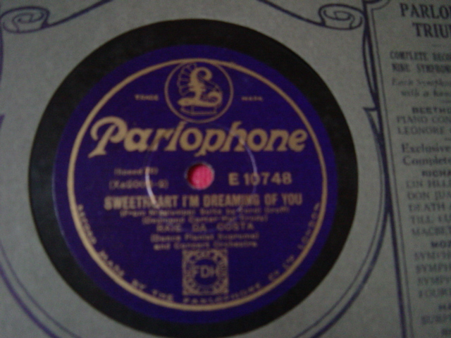 Raie Da Costa Piano - When day is done - Parlophone E.10748