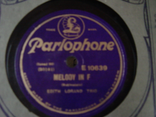 Edith Lorand - Melody in F / Trio - Parlophone E.10639