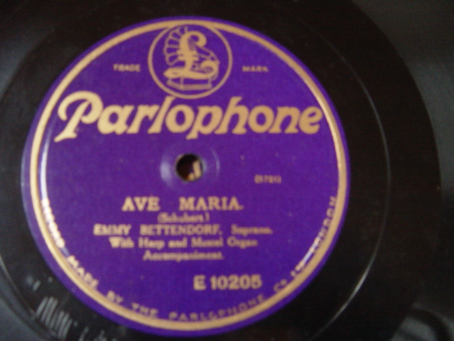 Emmy Bettendorf - Ave Maria - Parlophone E.10205