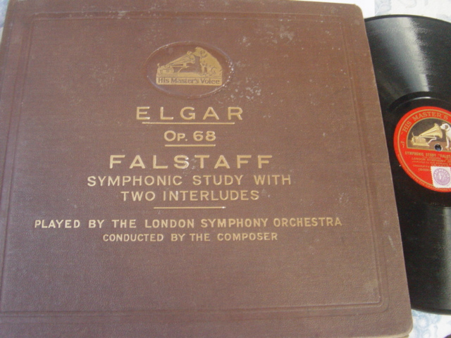 Elgar - Falstaff op.68 - Elgar London Symph - HMV DB.1621 / 24
