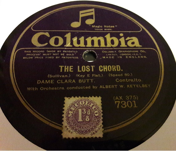 Dame Clara Butt - The Lost Chord / The Holy City - Columbia 7301