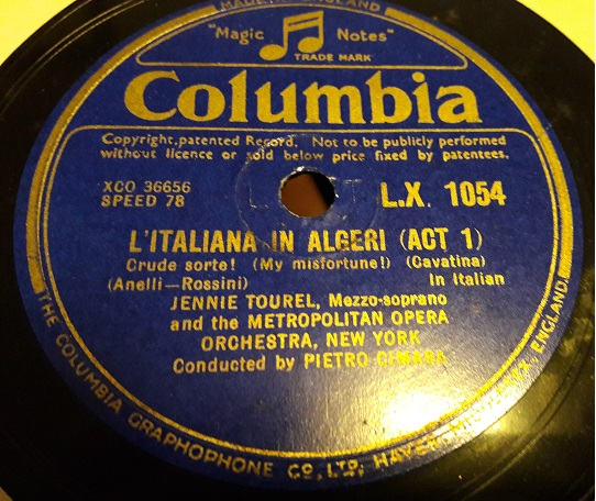 Jennie Tourel - Semiramide - Columbia LX.1054 E+