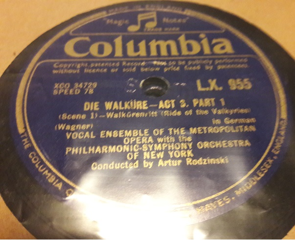 Wagner Die Walkure Act 3 - Columbia LX.955 / 961 7 X 78