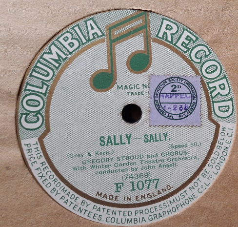 Gregory Stroud - Sally - Columbia F.1077 E