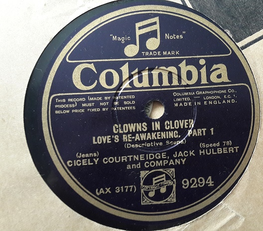 Cecily Courtneidge Jack Hulbert - Clowns Clover - Columbia 9294