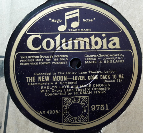 Evelyn Lane - The New Moon - Columbia 9751 E+