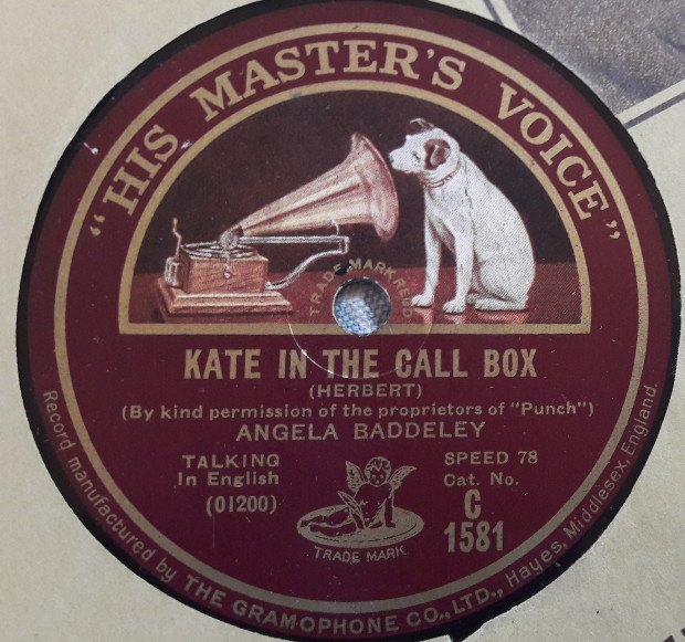 Angela Baddeley - Kate in the Call Box - HMV C.1581 E