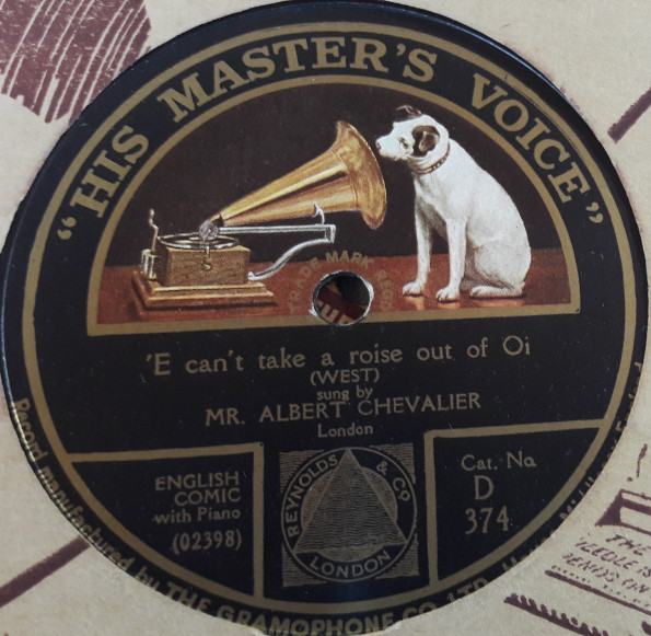 Albert Chevalier - Future Mrs. 'Awkins - HMV D.374 E+