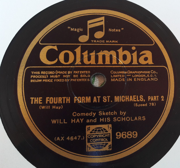 Will Hay - The fourth form at St. Michaels - Columbia 9689 E+++