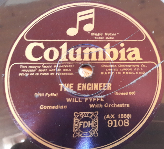 Will Fyffe - The Engineer / Dr. McGregor - Columbia 9108 E
