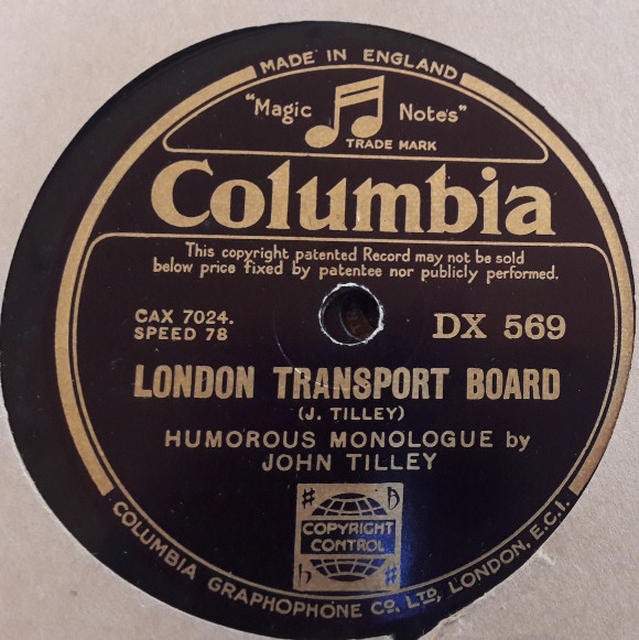 John Tilley - London Transport Board - Columbia DX.569 E+