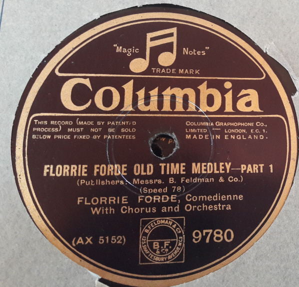Florrie Forde - Old Time Medley - Columbia 9780 E+