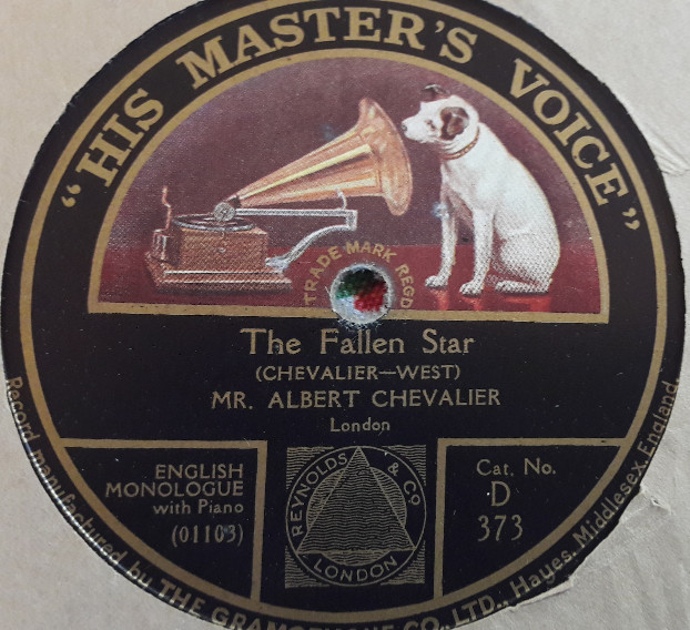 Albert Chevalier - The Fallen Star - HMV D.373 E+