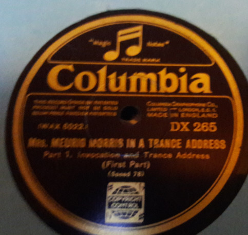 Mrs Meurig Morris - In a Trance Address - Columbia DX.265 E+