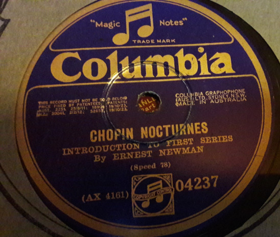 Leopold Godowsky / Ernest Newman - Chopin - Columbia 04237