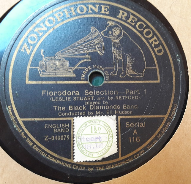 Black Diamonds Band - Florodora Selection - Zonophone A.116