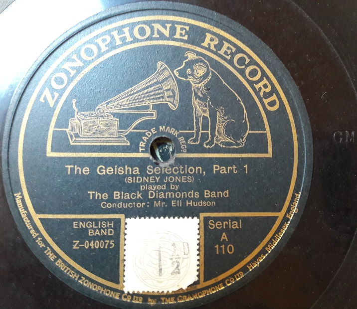 Black Diamonds Band - Geisha Selection - Zonophone A.110