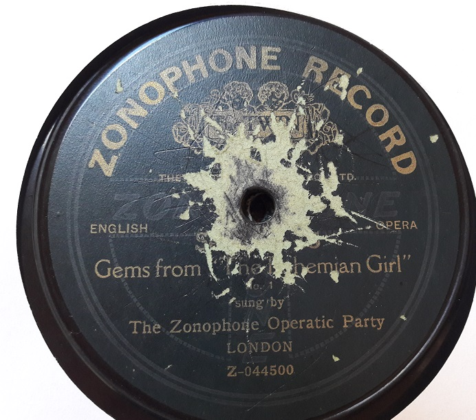 Zonophone Operatic Party - Bohemian Girl - Zonophone A.15