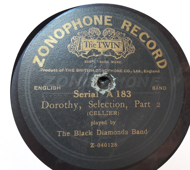 Black Diamonds Band - Dorothy Selection - Zonophone A.183