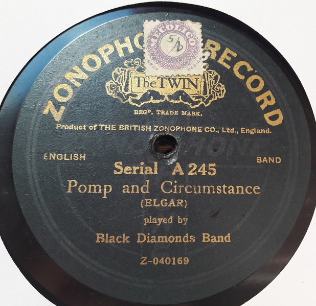 Black Diamonds Band - Pomp and Circumstance - Zonophone A.245