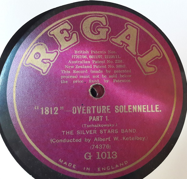 Silver Stars Band - 1812 Overture - Ketelbey - Regal G.1013