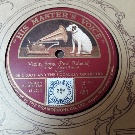 De Groot - Violin Song / Serenata - HMV C.683