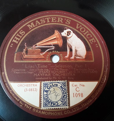 Mayfair Orchestra - Lilac Time - HMV C.1098