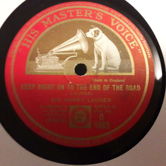 Harry Lauder - The road to the Isles - HMV D.1085