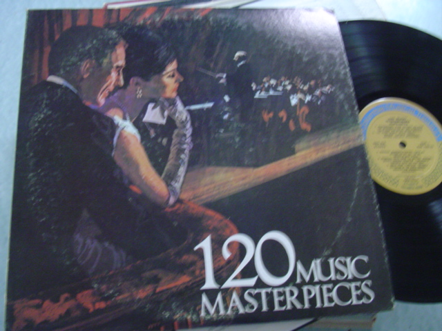 VARIOUS - 120 MUSIC MASTERPIECES - COLUMBIA 2LP