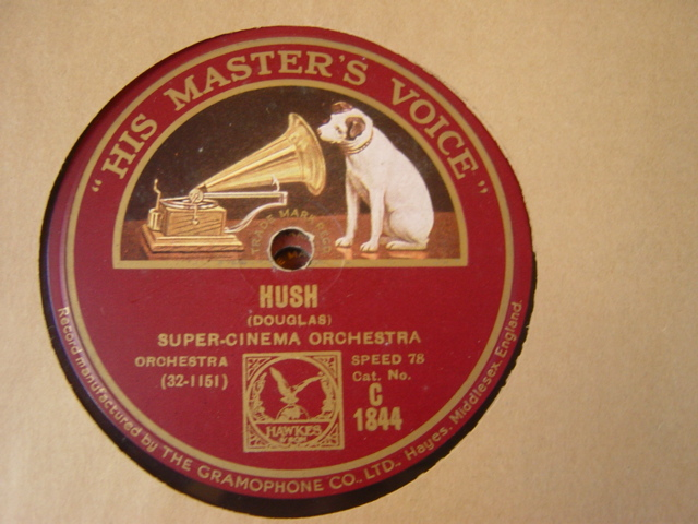 Super Cinema Orchestra - Hush - HMV C.1844
