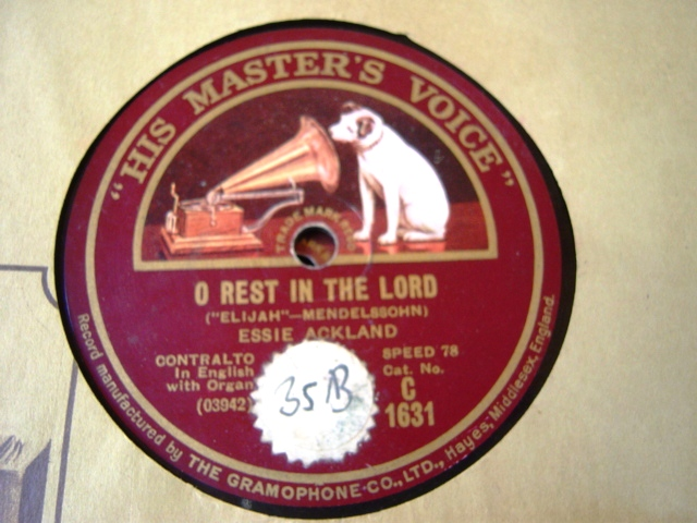 Essie Ackland - O rest in the Lord - HMV C.1631