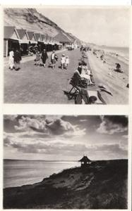 Southbourne Parade & Cliffs - Real Photo unused