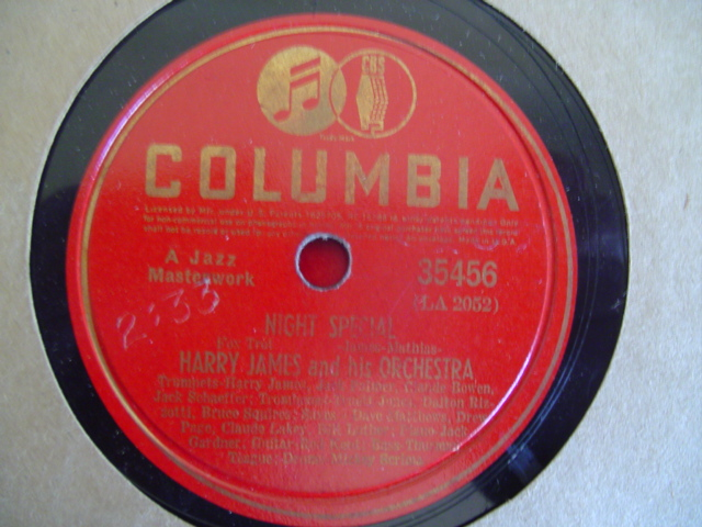 HARRY JAMES - NIGHT SPECIAL - COLUMBIA 35456