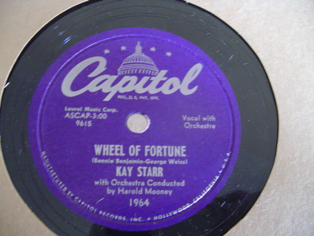 KAY STARR - WHEEL OF FORTUNE - CAPITOL 1964