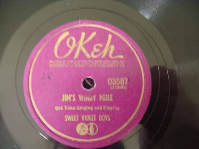 SWEET VIOLET BOYS - JIMS WINDY MULE - OKEH