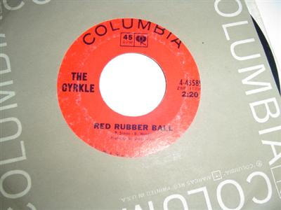 THE CYRKLE - RED RUBBER BALL - COLUMBIA { 1818